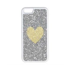 CellPowerCases Gold Glitter Heart Silver Glitter Background iPhone 6... ($13) ❤ liked on Polyvore featuring accessories, tech accessories, phone cases, phone, iphone, iphone case, white, white iphone case, iphone cases and iphone cover case