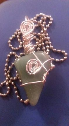 Wire wrapped aventurine crystal