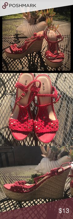 🏁Just In- Red Wedges These are some super cute wedges for a warm day in the sun ☀️ M.P.S. Shoes Wedges