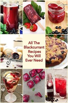 All The Blackcurrant Recipes You Will Ever Need. Seasonal summer recipes using this delicious sweet and tart dark purple fruit. Pudding Recipes, Fruit Recipes, Vegan Recipes Easy, Summer Recipes, Dessert Recipes, Delicious Recipes, Recipies, Frozen Desserts, Easy Desserts