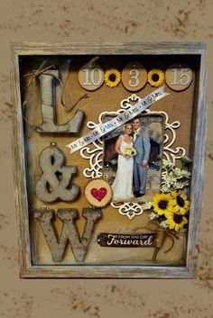 The Wedding Shadow Box Or How To Keep Your Memories ❤ See more: http://www.weddingforward.com/wedding-shadow-box/ #weddings