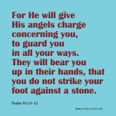 .What a powerful promise. This is to all my friends that are going through struggles at this time. Remember you are in the arms of the angels!! KS