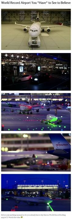World Record Airport You *Have* to See to Believe.  If you didn't catch on (even if you did), you should probably watch the video.  It is...  Amazing! :)  #creative #record
