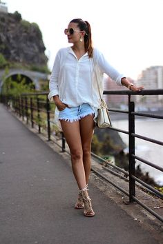 Get this look: http://lb.nu/look/8843121 More looks by Marianela Yanes: http://lb.nu/marilynscloset Items in this look: Mango Shirt, Zara Short, Guess Bag #bohemian #minimal #romantic