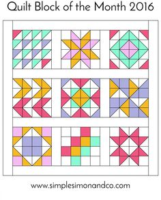 Quilt Block of the Month:The Ribbon Star Quilt Block Tutorial - Simple Simon and Company Block of our Quilt Block of the Month series. Visit our website for the tutorial and series. Half Square Triangle Quilts Pattern, Square Quilt, Arrow Quilt, Motifs Aztèques, Barn Quilt Patterns, Quilting Patterns, Free Quilt Block Patterns, Pattern Blocks, Pinwheel Quilt