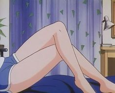 Imagem de anime, aesthetic, and legs