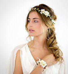 Couronne de fleurs de mariée : le style bohème