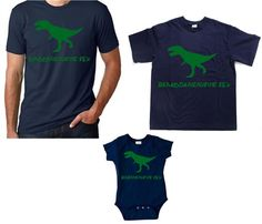 Daddy dinosaur shirt and set of two matching kids t shirts gift set, perfect t shirt combo for fathers day gift by Ilove2sparkle on Etsy https://www.etsy.com/listing/314240274/daddy-dinosaur-shirt-and-set-of-two