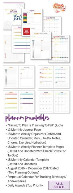 Hobonichi Planner Templates! Hobonichi Weekly and Hobonichi Daily - perpetual calendar template