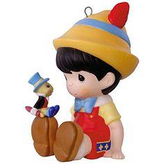 Hallmark Keepsake 2017 - Disney Pinocchio and Jiminy Cricket Precious Moments Porcelain Ornament