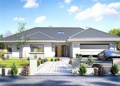 Projekt domu Willa Parterowa 171,76 m² - koszt budowy - EXTRADOM Village House Design, Bungalow House Design, Village Houses, Single Storey House Plans, Classic House Exterior, Modern Family House, Beautiful House Plans, Pool House Plans, Model House Plan