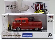 1:64  M2 MACHINES AUTO-THENTICS VW04 - 1959 VW DOUBLE CAB TRUCK USA MODEL #M2Machines #Volkswagen