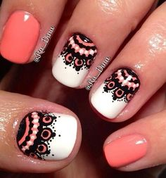 Detailed pretty cute nails