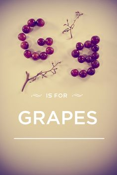 G is for.. make g shapes with grapes