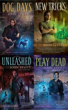 Dog Days series by John Levitt.  Another UF series discontinued.  I miss Mason and Lou.  Still hoping for more one day.  More Victor, too.  ...And now, of course, I want my very own familiar/dog bff.