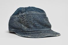 Kapital Kogin Blue Washed Country Cap : Rooted in Japanese traditions of quality and craftsmanship, Kapital began its journey with Butch Fashion, Unisex Fashion, Denim Fashion, Fashion Boots, Womens Fashion, Mens Newsboy Hat, Boro Stitching, Fashion Hashtags, Embroidered Caps