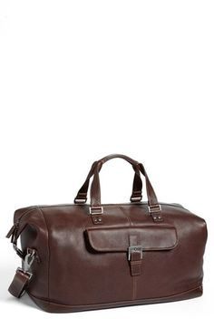 Boconi 'Tyler' Leather Cargo Duffel Bag available at #Nordstrom