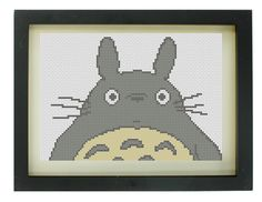 Totoro Cross Stitch Pattern by TheIronStitch on Etsy, £2.00