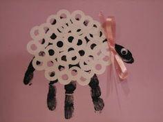 Image result for kids handprint spring lamb craft