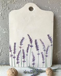 💜Elegant handmade cheese plate with lavender pattern for your next party or the hostest gift💜 . 💜Elegant handmade cheese plate with lavender pattern for your next party or the hostest gift💜 . Hand Built Pottery, Slab Pottery, Pottery Mugs, Ceramic Pottery, Pottery Art, Painted Pottery, Pottery Gifts, Thrown Pottery, Pottery Wheel