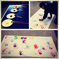 Show of Hands was a program that promoted diversity. Residents painted their hands and put a handprint on paper, wrote their names, and what they identify as. The message--Diversity is not just a nationality or culture. It's what you identify as. Ra Jobs, Ra Events, Ra Programming, Ra Themes, Ra Door Decs, Diy And Crafts, Arts And Crafts, Show Of Hands, Resident Assistant