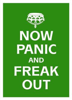 Poster Print canvas NOW PANIC and FREAK out   cotton by Artistico, $28.00