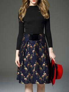 Jacquard Cotton-blend Midi Dress