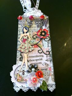 M-Cs Friendship Corner: A Not So Little Prima Doll Tag - My latest Prima doll tag.