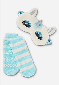 Unicorn Eye Mask & Slipper Socks Set