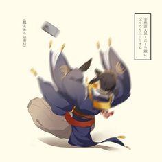 おじいちゃん Touken Ranbu Mikazuki, Rurouni Kenshin, Cute Comics, Anime Guys, Sword, Otaku, Batman, Kawaii, Illustration