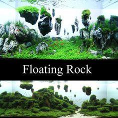 aquarium fish tank floating rock island basking platform decoration Ornaments in Pet Supplies, Fish & Aquarium, Decorations | eBay