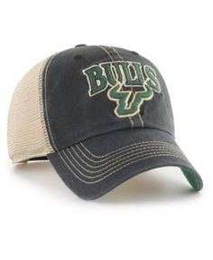the latest d7f04 450ca NCAA USF South Florida Bulls Top of the World Black Green Flex Stretch Fit  Cap by Top of the World.  16.99. 97% Acrylic 3% Spandex…
