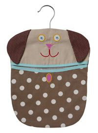 An Ulster Weavers design Cotton peg bag with hanger Machine washable remove hanger before washing Size 33 x 25 5
