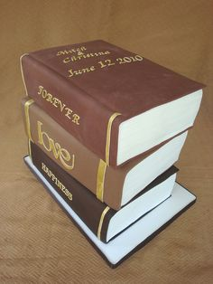 Stack of Books Wedding Cake by springlakecake, via Flickr