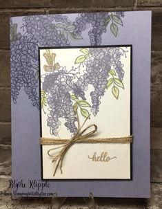 Lot of Lavender stamp set | sale-a-bration 2018 | wisteria | two-step stamping | hello card | all purpose card | friendship card | turn lavender into wisteria | Eastern Palace (hello)