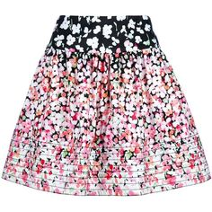 RED VALENTINO floral skirt ($380) ❤ liked on Polyvore