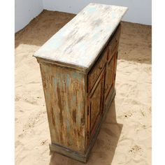 Oklahoma Farmhouse Hand Painted Distressed Buffet Sideboard Cabinet NEW | eBay