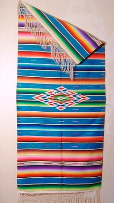 I have a Mexican blanket similar to this one.  I need a creative way to display it.  I've had it for almost 20 years and it has never been used!  It's too pretty!