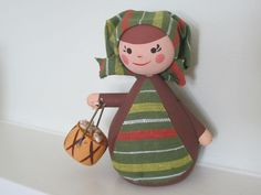 Vintage Doll Figurine Swedish Mid Century..