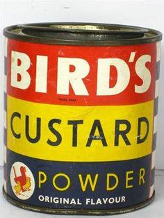 Old-Tin-for-Birds-Custard-Powder for sale Bird's Custard, Custard Powder, Roasted Cabbage, Tea Biscuits, Vintage Tins, Coffee Cans, Tea Time, Birds, Tin Cans