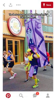 The guy dressed in a kronk suit!!