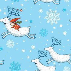 Christmas patterns vector set 01