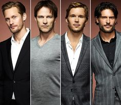 Can't get any better than this :)  Eric, Bill, Jason, and Alcide. all that's missing is Sam