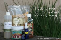 Raising Healthy Families: Stock Your First Aid Kit Naturally - The Greenbacks Ga. Health And Beauty, Health And Wellness, Health Tips, Natural Health Remedies, Herbal Remedies, Natural Medicine, Herbal Medicine, Medical, First Aid Kit