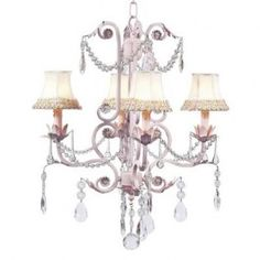 Jubilee 7506-2253 4 Light Valentino Chandelier, Pink