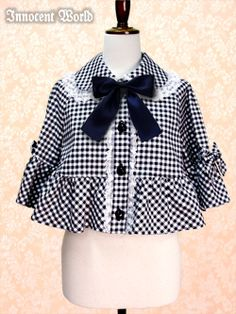 Amy Checkered Capelet
