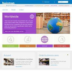 Tweetalige responsive website voor Huisman Group. www.huismangroup.com