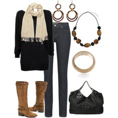 Black and Brown  polyvore by lkbecker  	  	  Black and brown