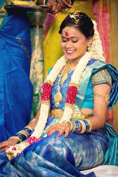 Indian Bride | Bride-to-be | Bridal Make-up Ideas | Bridal Jewelry | Telegu Ceremony | Bridal Mehendi Ideas  www.potoksworldphotos.com