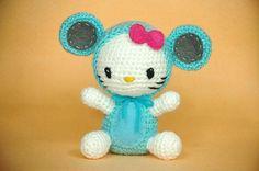 Amigurumi Hello Kitty Baby Mouse Girl Crochet Toy by parampara, $27.00